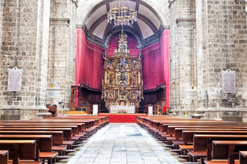 Main altar of Valladolid Cathedral