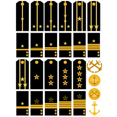 SEpaulets and stripes navy Russian army