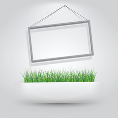 Frame and Grass in Paper Slit