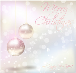 Christmas card with shiny background