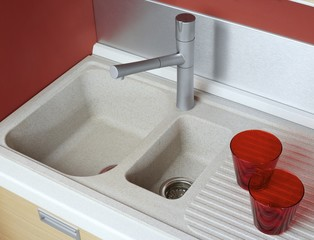 Sink for kitchen ware
