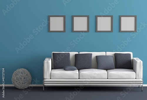 Blaues wohnzimmer stockfotos und lizenzfreie bilder auf bild 45727504 - Blaues wohnzimmer ...