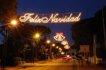 Christmas streetlights, Spain © Arena Photo UK