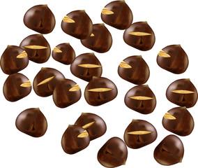 castagne caldarroste-chestnuts roasted chestnuts