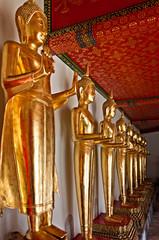 Buddha statues in Wat Pho temple, Bangkok, Thailand