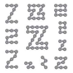 Abstract Letter Z - Chain Sign Set