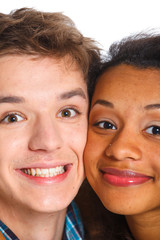 Young man with girlfriend