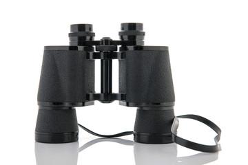 Binoculars isolated over white