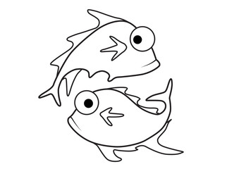 Fish vector cartoon