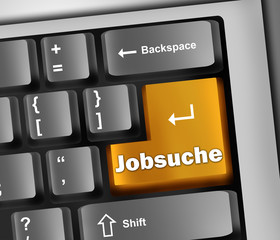 "Keyboard Illustration ""Jobsuche"""