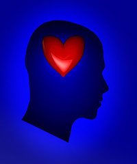 Head with heart