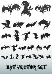 bat vector set