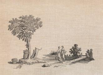 Village women illustration