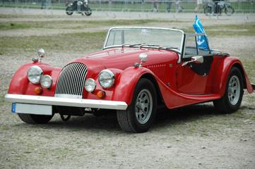 Old red car, retro