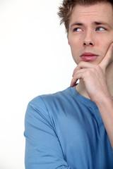 Pensive male student