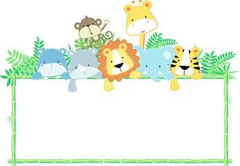 baby animals frame