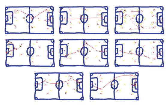 Teamwork Football Game Plan Strategy on Whiteground