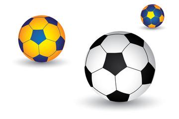 Illustration of soccer(footballl) ball in black and white as wel