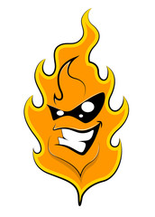 Fire  Mascot tattoo Vector