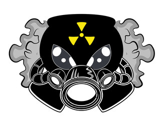 Gas Mask Mascot Tattoo Vector