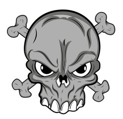 Skull Mascot tattoo Vector