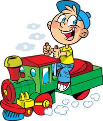 Small  engineer locomotive