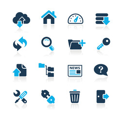 FTP & Hosting Icons // Azure Series