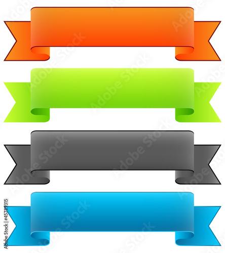 banderole banner design element banderolen sammlung set 1 fichier vectoriel libre de