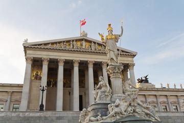 Austrian Parliament with Pallas Athene