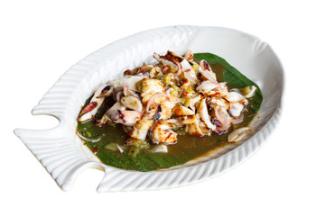 Roasted Cuttlefish with Tamarind Sauce