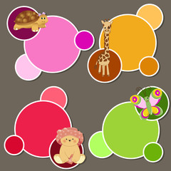 baby stickers - place your text