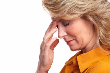 Senior woman having stress.