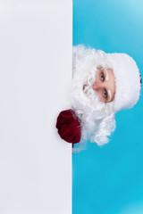 Santa Claus and blank
