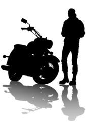 Fotomurales - Chopper and man