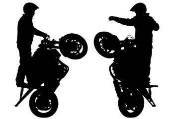Wall Mural - Extreme motobike