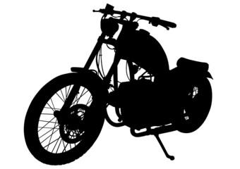 Poster Motorcycle Retro motobike vehicle