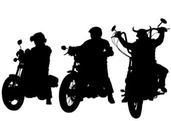 Fotomurales - Three choppers