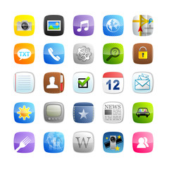 Smartphone Icon Set 1