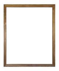Old dirty wooden picture frame with clipping path