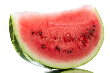Piece of watermelon on white