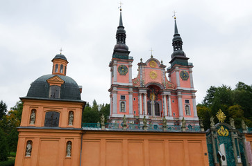 Horizontal view of Swieta Lipka church in Poland