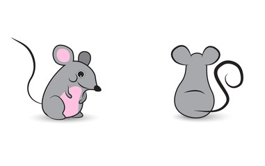 Two cute mouses characters