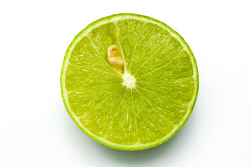 Wall Mural - Fresh ripe lime. Isolated on white background