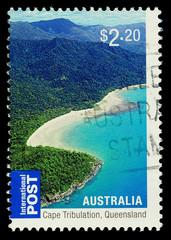 Australian Stamp Cape Tribulation Queensland, circa 2010.