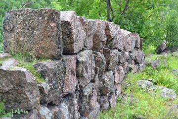 The granite fence