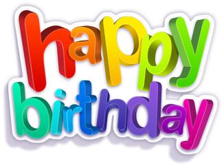 happy birthday - simple V