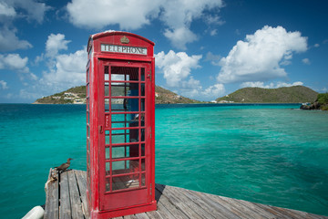 Phone booth in the British Virgin Islands at Marina Cay
