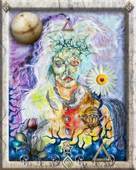 Deurstickers Imagination Dionys,god of rapture.