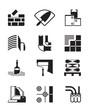 Construction materials and tools - vector illustration