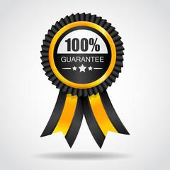 Yellow label. 100% Guarantee.